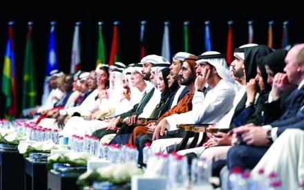 الصورة: الصورة: محمد بن راشد يشهد تكريم الفائزين بجائزة أفضل خدمة حكومية عبر الهاتف المحمول