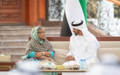 الصورة: محمد بن زايد يستقبل رئيسة وزراء بنغلاديش