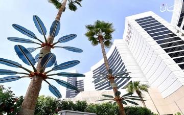 الصورة: الصورة: شجرة أوراقها تنتج طاقة كهربائية!