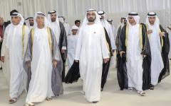 الصورة: محمد بن راشد يحضر أفراح السركال وبن سليمان