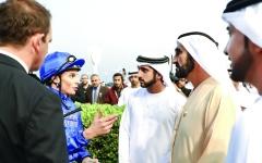 الصورة: محمد بن راشد يشهد تألق خيول «جودلفين» في «سوبر ساترداي»
