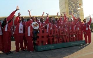"""الصورة: وفود """"الأولمبياد الخاص"""" يزورون معالم دبي"""