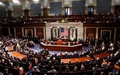 """الصورة: """"الشيوخ الأمريكي"""" يصوّت لمصلحة إنهاء حالة الطوارئ الوطنية"""