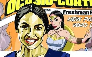 الصورة: أوكاسيو-كورتيز بطلة خارقة في سلسلة قصص مصوّرة
