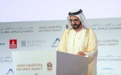 الصورة: الصورة: محمد بن راشد: الإمارات تقود الحراك العربي في قطاع الفضاء