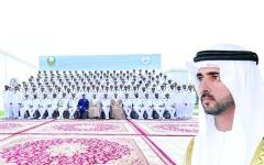 الصورة: الصورة: حمدان بن محمد: العلم والمعرفة سلاح حماة الوطن الأشدّاء