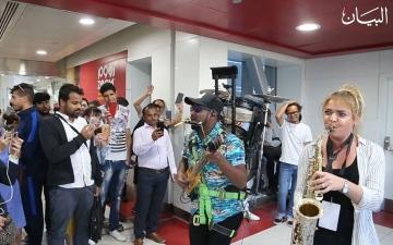 الصورة: أنغام العالم تعزف في مترو دبي