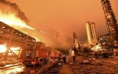 الصورة: الصورة: مقتل وإصابة 687 في انفجار بمصنع كيماويات في الصين