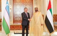 الصورة: الصورة: محمد بن راشد ورئيس أوزبكستان يبحثان علاقات الصداقة والتعاون