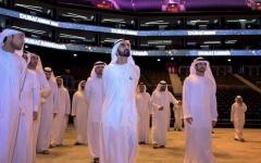 """الصورة: الصورة: محمد بن راشد يزور """"دبي أرينا"""" ويطلع على مكونات الصالة المغطاة الأولى من نوعها في المنطقة"""
