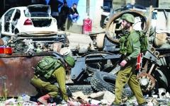 الصورة: الصورة: إعدام ميداني لفلسطيني برصاص مستوطن قرب نابلس