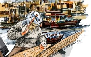 الصورة: الصورة: «القلافة».. هندسة السفن الخشبية