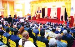 الصورة: الصورة: انتصار سياسي للشرعية اليمنية