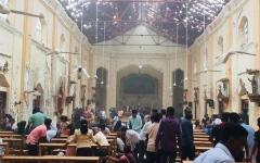 الصورة: الصورة: مقتل وإصابة العشرات في إنفجارات سيريلانكا