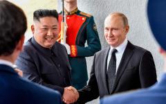 الصورة: الصورة: انطلاق القمة التاريخية بين الرئيس الروسي وزعيم كوريا الشمالية