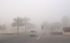 """الصورة: الصورة: """"الأرصاد"""": تدني مدى الرؤية بسبب الغبار والأتربة"""