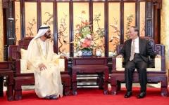 الصورة: الصورة: محمد بن راشد يبحث مع نائب الرئيس الصيني سبل رفع مستوى الشراكة بين البلدين