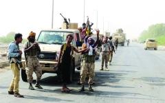 الصورة: الصورة: التحالف يدمّر تعزيزات حوثية شمالي الضالع