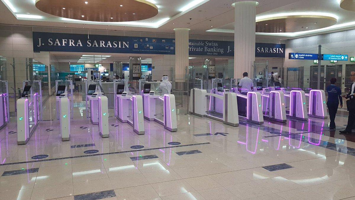 Image result for بوابات ذكية بمطارات دبي