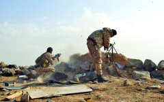 الصورة: الصورة: الشرعية تتوعد بردّ حاسم على خروق الحوثي