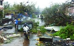 الصورة: الصورة: «فاني» يحصد 7 قتلى.. وإجلاء الملايين في الهند وبنغلاديش