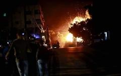 الصورة: الصورة: مقتل إسرائيلي واستشهاد فلسطينيين في غارات إسرائيلية على غزة
