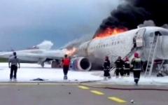 الصورة: الصورة: وزير النقل الروسي: 41 قتيلا و33 ناجياً في حادث طائرة موسكو
