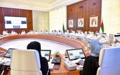 الصورة: الصورة: محمد بن راشد مترئساً مجلس الوزراء:رمضان محطة لإطلاق مبادرات الخير من الإمارات للعالم