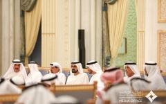 الصورة: الصورة: محمد بن راشد ومحمد بن زايد يتبادلان التهاني مع حكام الإمارات بمناسبة شهر رمضان
