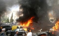 الصورة: الصورة: قتلى وجرحى في تفجير ببغداد