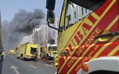 الصورة: الصورة: حريق بالقرب من محطة مترو أبو بكر الصديق
