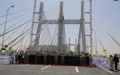الصورة: الصورة: مصر تدخل موسوعة غينيس بأعرض جسر في العالم