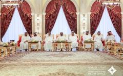 الصورة: الصورة: محمد بن راشد يستقبل حاكمي أم القيوين ورأس الخيمة