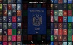 الصورة: الصورة: 172 دولة أمام جواز السفر الإماراتي بدون تأشيرة