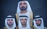 الصورة: الصورة: فرحة عارمة تعم الإمارات والمنطقة بمناسبة عقد قران 3 من أبناء محمد بن راشد