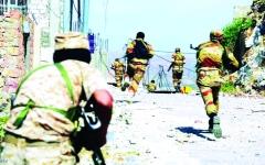 الصورة: الصورة: الشرعية تطهّر مدينة قعطبة بالكامل