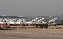الصورة: الصورة: الدفاعات الجوية في قاعدة حميميم تتصدى لقذائف صاروخية