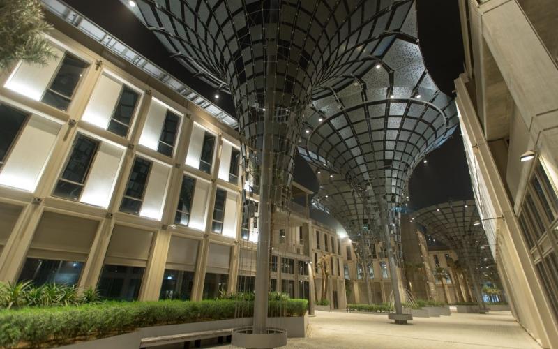 الصورة: الصورة: إكسبو2020 دبي ينتهي من بناء مناطق الموضوعات الثلاثة