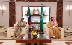 الصورة: الصورة: محمد بن سلمان يلتقي نائب رئيس المجلس الانتقالي السوداني