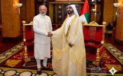 الصورة: الصورة: محمد بن راشد يهنئ رئيس وزراء الهند بفوز حزبه في الانتخابات التشريعية