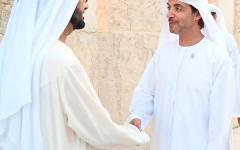 الصورة: الصورة: محمد بن راشد يستقبل هزاع بن زايد