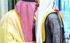 الصورة: الصورة: حمدان بن محمد في ضيافة ملك الحزم