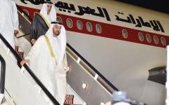 الصورة: الصورة: محمد بن زايد يصل السعودية على رأس وفد الدولة إلى القمتين الخليجية والعربية الطارئتين