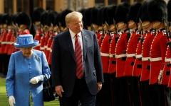 الصورة: الصورة: بعد امبراطور اليابان ترامب سيلتقي الملكة إليزابيث في بريطانيا
