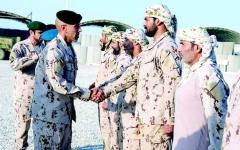 الصورة: الصورة: قادة القوات المسلحة ينقلون تحيات القيادة لقواتنا في اليمن