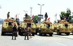 الصورة: الصورة: استشهاد 8 جنود في هجوم إرهابي شمال سيناء