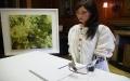 """الصورة: الصورة: بالفيديو.. الروبوت """"أيدا"""" تفتتح معرضها الفني 12 يونيو في بارن غاليري"""
