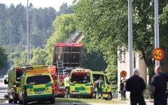 الصورة: الصورة: إصابة 25 شخصاً في انفجار بالسويد