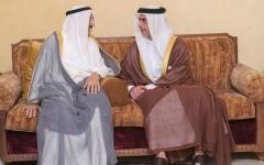 الصورة: الصورة: سيف بن زايد ينقل تعازي رئيس الدولة ونائبه ومحمد بن زايد لأمير الكويت