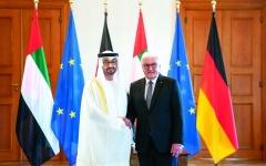 الصورة: الصورة: محمد بن زايد: الإمارات وألمانيا شريكتان في إرساء السلم العالمي